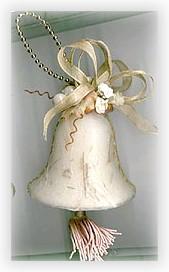 decoupaged bell ornament