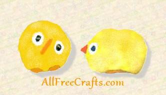 pompom Easter chicks