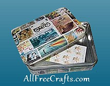 open postage stamp tin