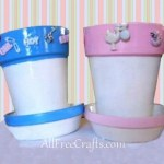 Baby Shower Clay Pots