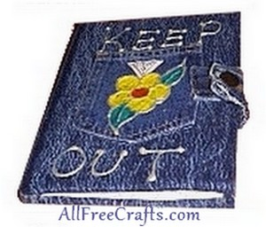 denim diary cover