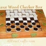 pizza box checkers game