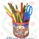 Recycled Photo Pencil Holder