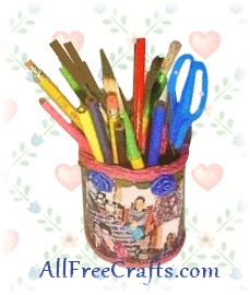 recycled pencil holder
