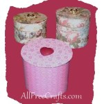 recycled ribbon spool boxes