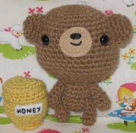 amigurumi crocheted teddy bear
