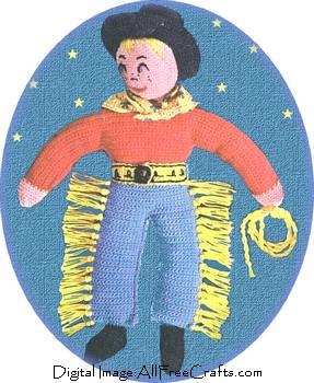 crochet cowboy doll