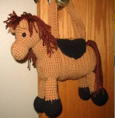 crocheted horse purse