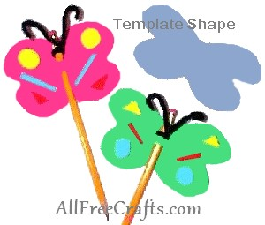 butterfly pencil toppers