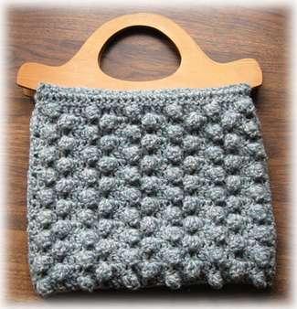 crocheted bobble purse