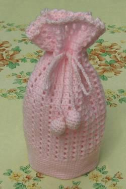 crocheted gift bag