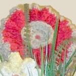 Finished crocheted poppy