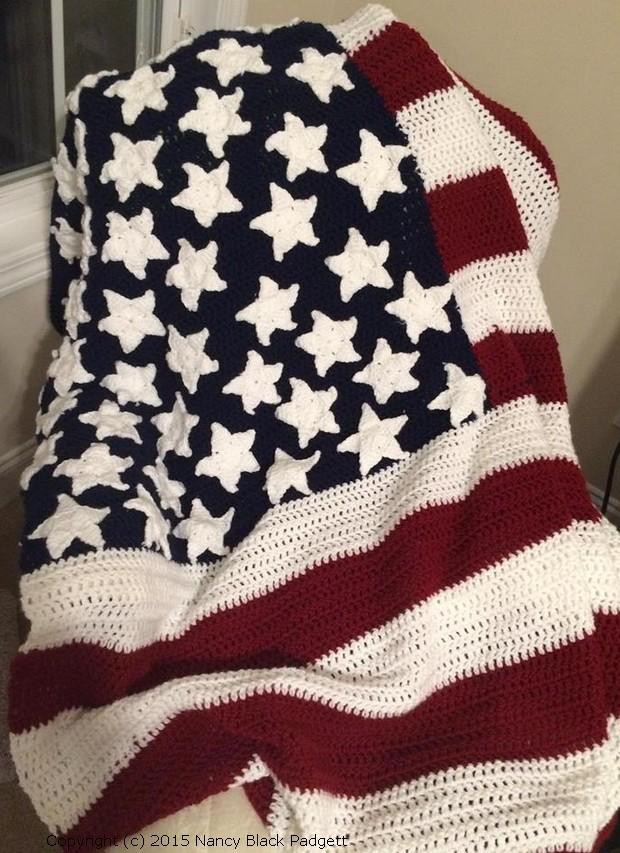 American Flag Crochet Pattern
