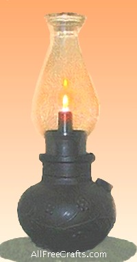 faux oil lamp