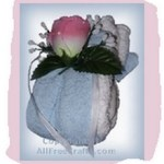 floral washcloth wrapped soap
