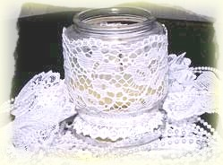 lace candle holders