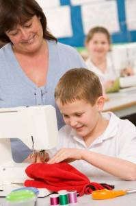 learning to sew