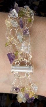 knitted beaded bracelet