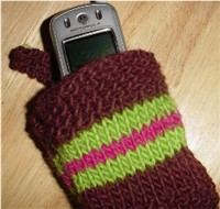 cellphone cozy knitted