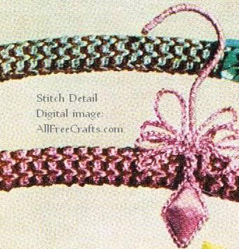 coat hanger cover - crochet pattern details