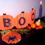 Construction Paper Pumpkin Banner