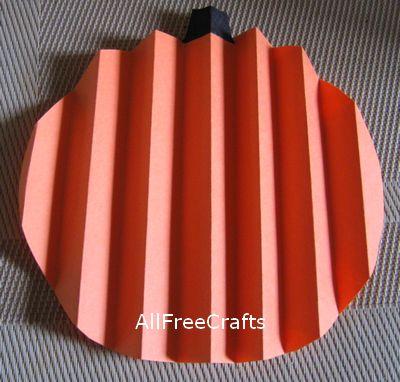 fan fold paper pumpkin