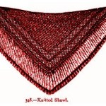 Victorian knitted shawl