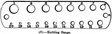 knitting gauge