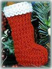 Simple Knitting Patterns Christmas Decorations : Mini Stocking - All Free Crafts