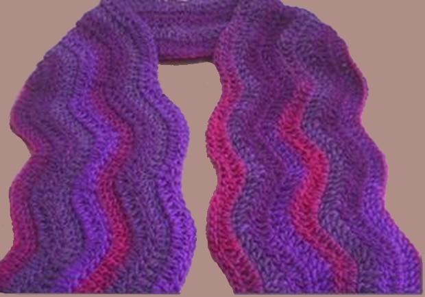 ripple wave scarf crochet pattern