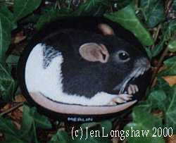 rock painting - mouse