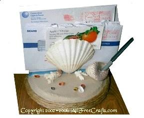 seashell mail organizer