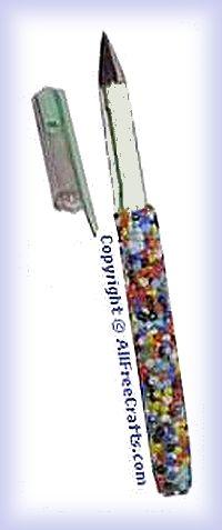 seed bead gel pen