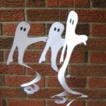 paper spiral hanging ghosts