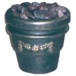 Faux Brass Clay Pot