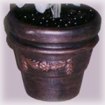 faux aged copper clay pot