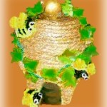 clay pot beehive decoration