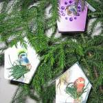Christmas Card Bird Houses