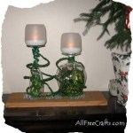 wine glass Christmas candle display