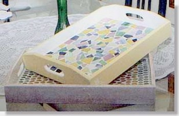 stained glass mosaic tray