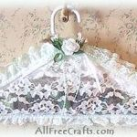 lace potpourri filled clothes hanger