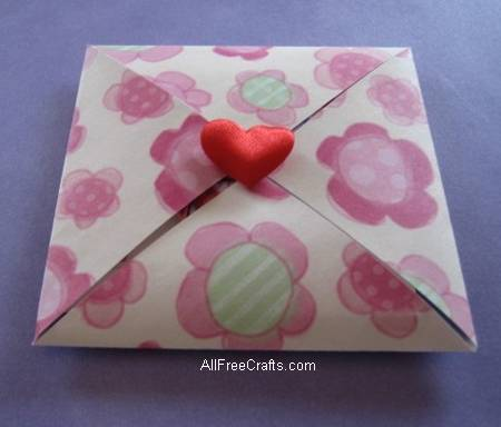 secret Valentine with finished folds