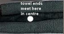 folded towel ends