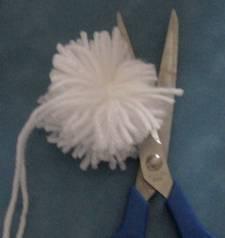 cut pompom yarn loops