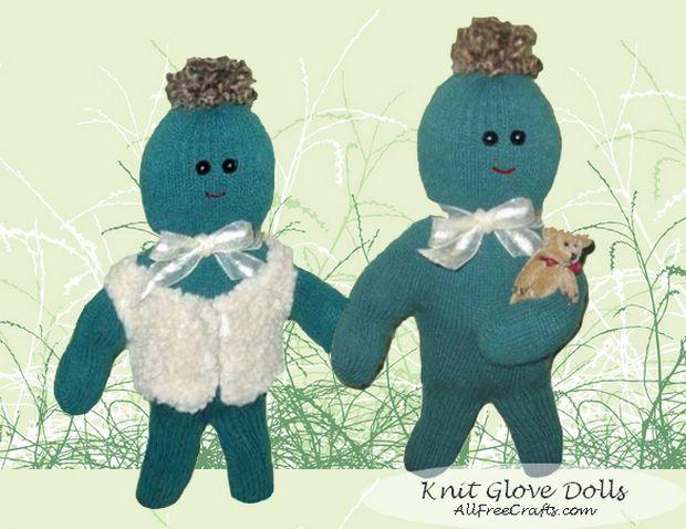 glove dolls holding hands