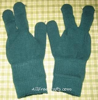 glove doll legs made