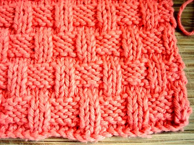 Knitting Basket Weave Pattern : Basket weave dishcloth knitting pattern free