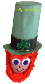 tall hat toilet paper roll leprechaun