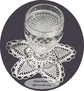 crocheted pineapple glass doily pattern