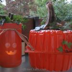 recycled spray painted pumpkins